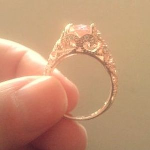 Pink Sapphire & White Topaz